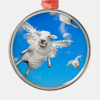 FLYING SHEEP 2 CHRISTMAS ORNAMENT