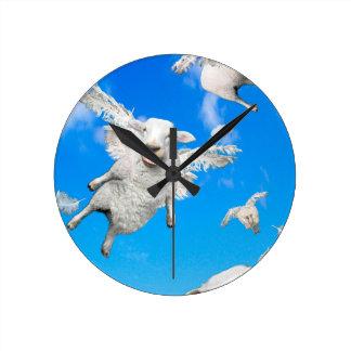 FLYING SHEEP 2 ROUND CLOCK