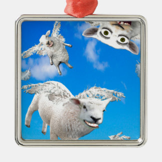 FLYING SHEEP 3 CHRISTMAS ORNAMENT