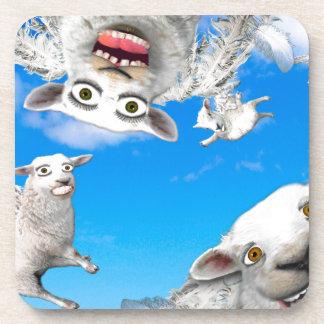 FLYING SHEEP 4 BEVERAGE COASTER