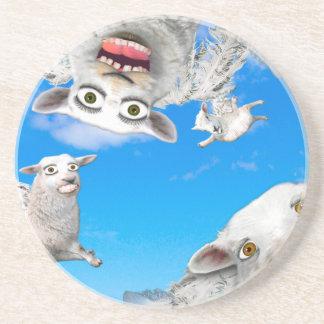 FLYING SHEEP 4 BEVERAGE COASTERS