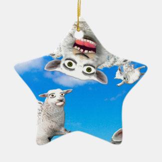 FLYING SHEEP 4 CHRISTMAS ORNAMENT