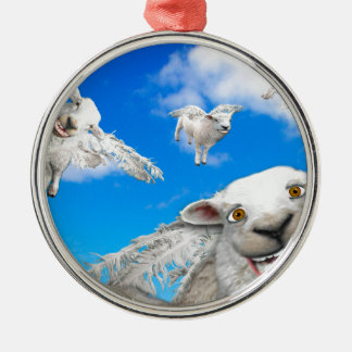 FLYING SHEEP 5 CHRISTMAS ORNAMENT