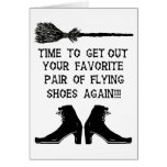 FLYING SHOES GREETING CARD