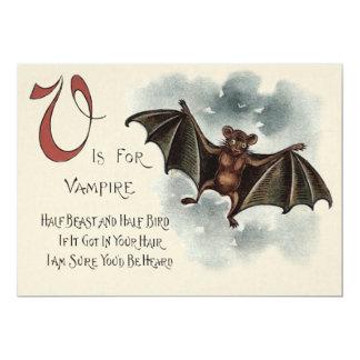 Flying Silly Goofy Vampire Bat 13 Cm X 18 Cm Invitation Card