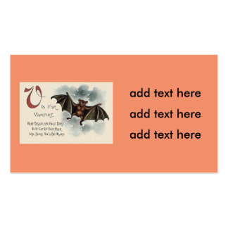Flying Silly Goofy Vampire Bat Pack Of Standard Business Cards