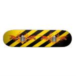 Flying Skeleton Skateboard