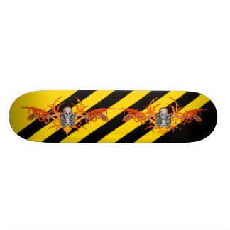 Flying Skeleton Skateboard
