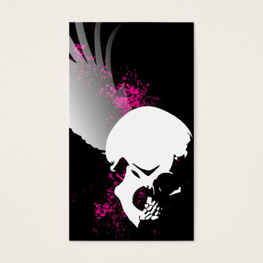 flying skull business card
