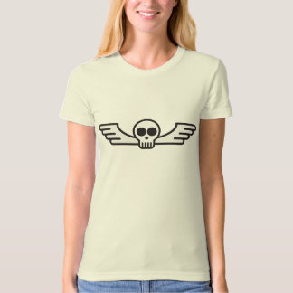Flying Skull Ladies Organic T-Shirt (Fitted)