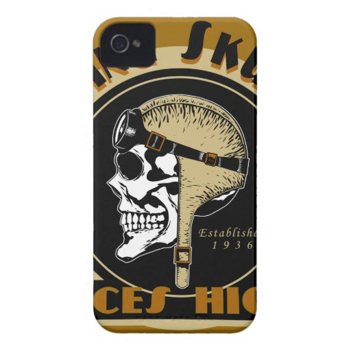 Flying Skullz Aces High Airborne Paratrooper Skull iPhone 4 Covers