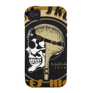 Flying Skullz Aces High Airborne Paratrooper Skull Vibe iPhone 4 Cases