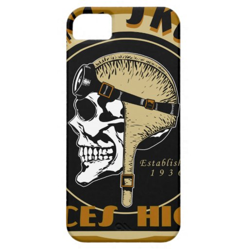 Flying Skullz Aces High Airborne Paratrooper Skull iPhone 5 Cover
