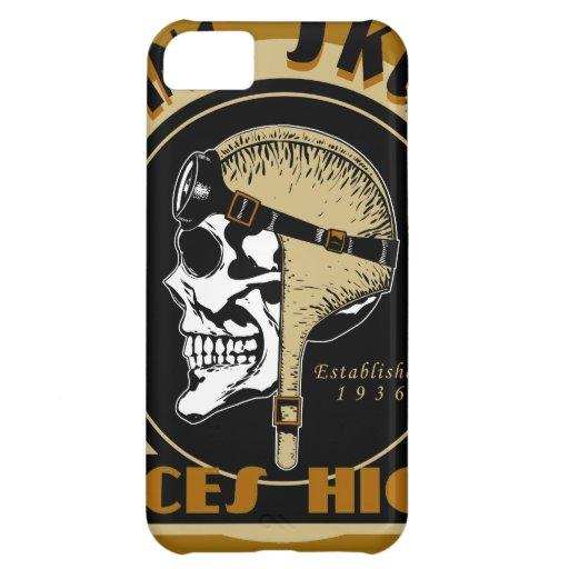 Flying Skullz Aces High Airborne Paratrooper Skull iPhone 5C Case