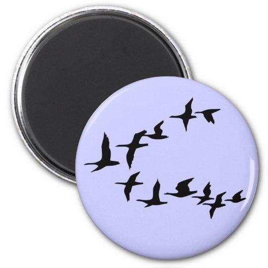 Flying South Geese Fridge Magnet