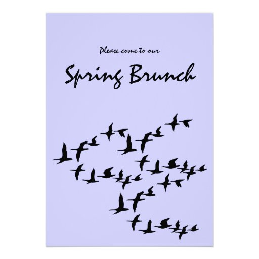 Flying South Geese Spring Brunch Invitation