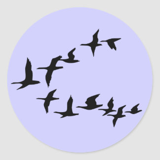 Flying South Geese Sticker