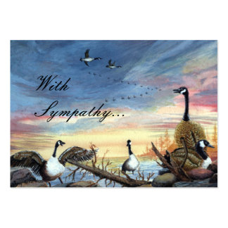 Flying South painting, With Sympathy... Pack Of Chubby Business Cards