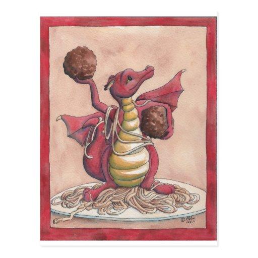 Flying Spaghetti Dragon Post Card
