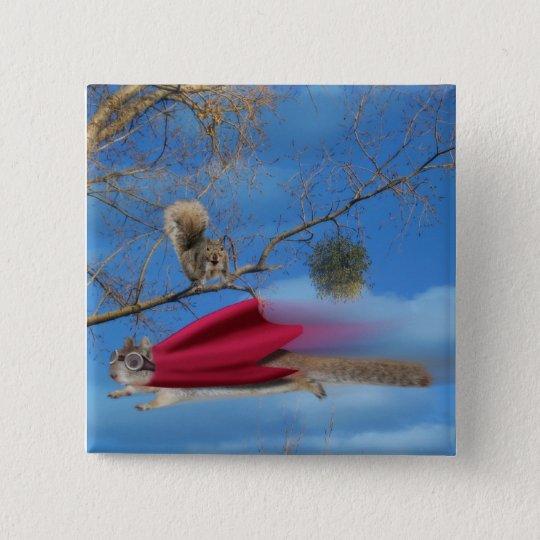 Flying Squirrel 15 Cm Square Badge