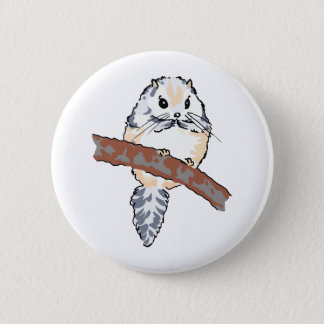 FLYING SQUIRREL 6 CM ROUND BADGE
