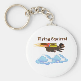 Flying Squirrel Basic Round Button Key Ring