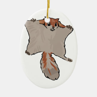 Flying Squirrel Ceramic Oval Decoration