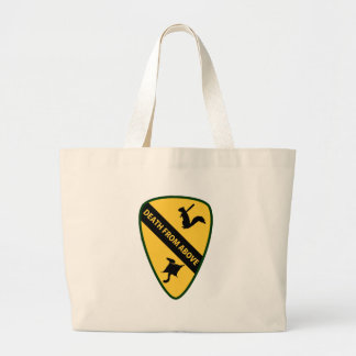 Flying Squirrel First Air Cavalry Insignia Tote Bags