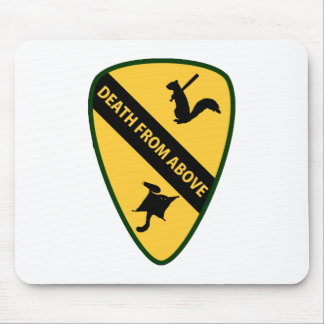 Flying Squirrel First Air Cavalry Insignia Mousepads