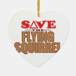 Flying Squirrel Save Christmas Ornament