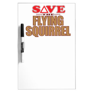 Flying Squirrel Save Dry Erase Board