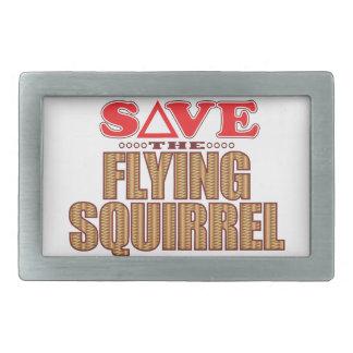 Flying Squirrel Save Rectangular Belt Buckle