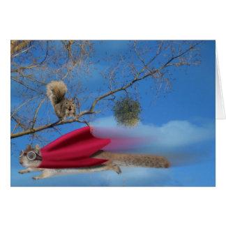 Flying Super Squirrel Card