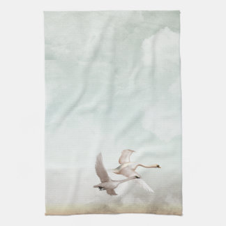 Flying Swans Tea Towel