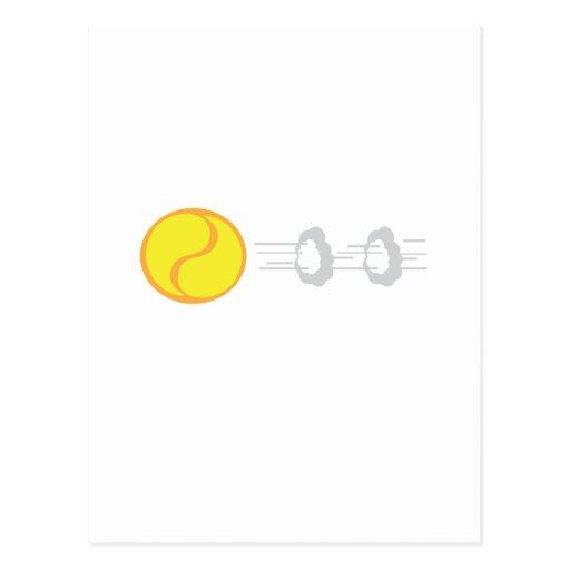 Flying Tennis Ball Post Card