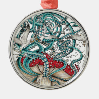 Flying The Agaric.png Silver-Colored Round Decoration