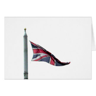 Flying the Flag for Britain Union Jack Greeting Card