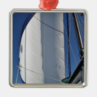 Flying the Genoa Silver-Colored Square Decoration