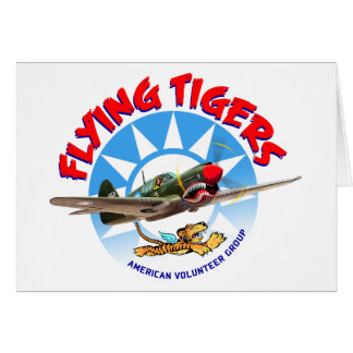 Flying Tigers Greeting Card