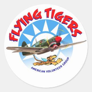 Flying Tigers Round Sticker