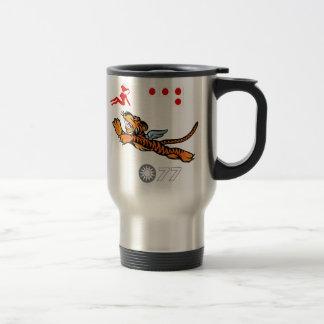 Flying Tigers WWII Nose Art Travel Mug