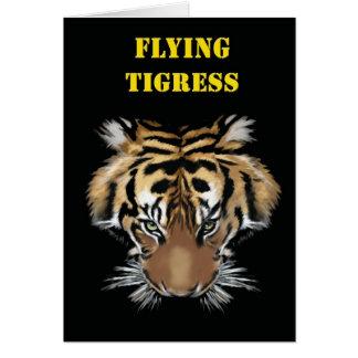 Flying Tigress Greeting Card