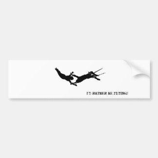 Flying Trapeze Bumper Sticker