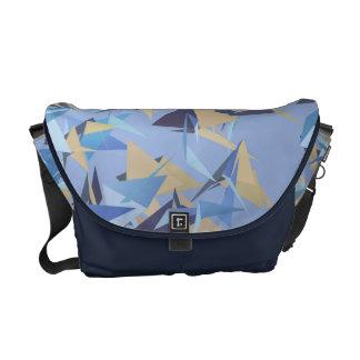 Flying Triangles Pattern Messenger Bag