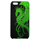 Flying Tribal Dragon - green on black iPhone 5C Cover