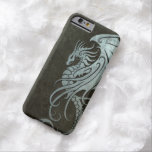 Flying Tribal Dragon – Industrial Steel Effect Barely There iPhone 6 Case