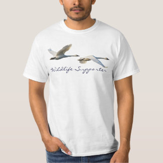 Flying Trumpeter Swans Wildlife Supporter T-Shirt