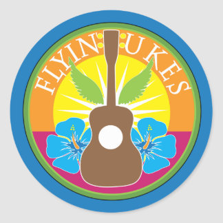 Flying Ukes Classic Round Sticker