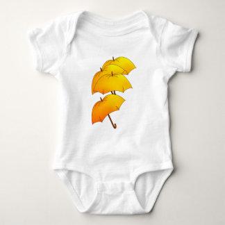 Flying umbrellas baby bodysuit