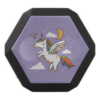 Flying Unicorn Black Bluetooth Speaker